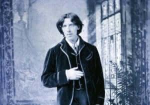 Foto av Oscar Wilde i kostym