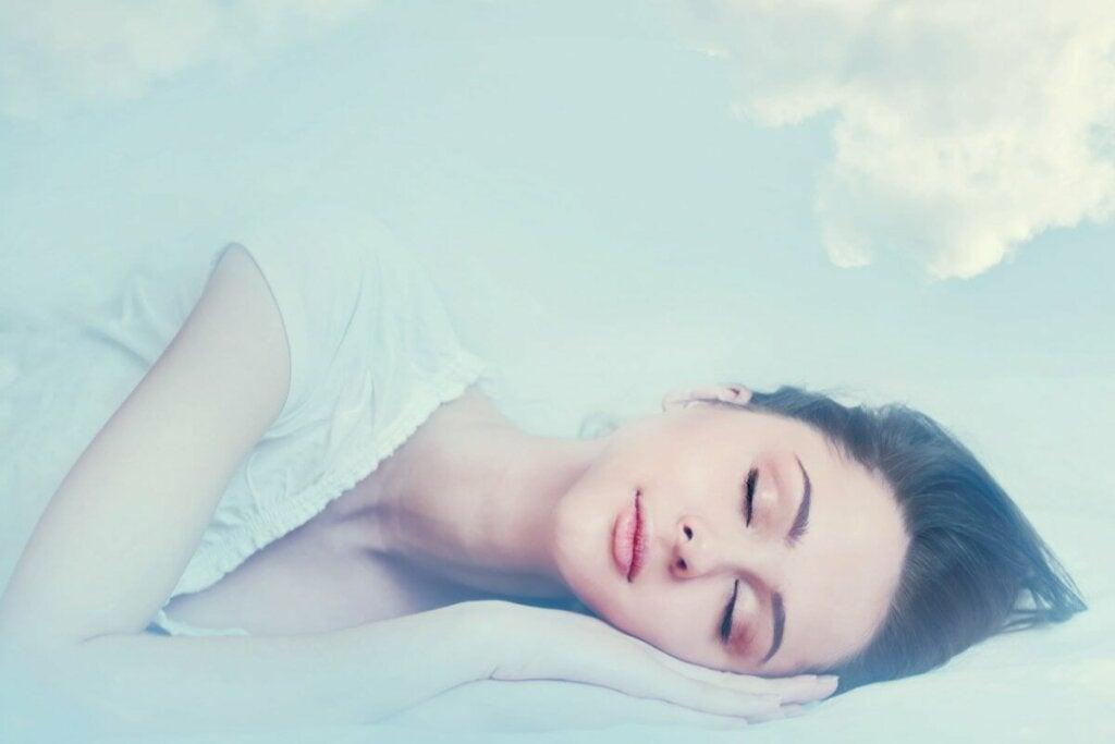 En kvinna som drömmer