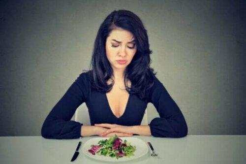 En fobi mot mat beror inte på en rädsla för att gå upp i vikt