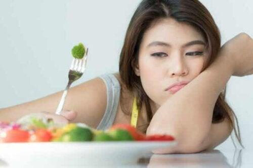 En tonåring med fobi mot mat